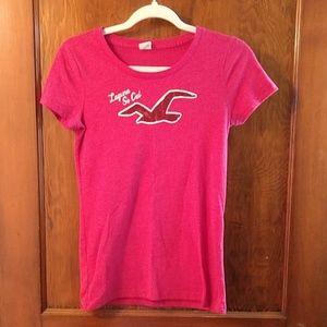 Hot pink Hollister t-shirt